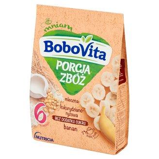 BoboVita Porcja Zbóż Kaszka mleczna kukurydziano-ryżowa banan po 6 miesiącu 210 g