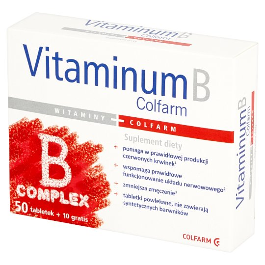 Colfarm Vitaminum B Complex Dietary Supplement 60 Tablets