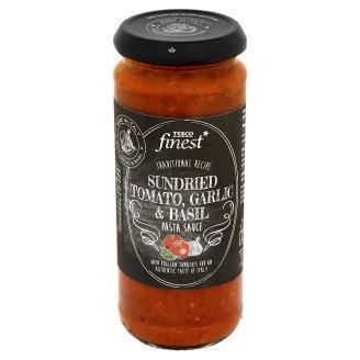 Tesco Finest Sos do makaronu z suszonymi pomidorami czosnkiem i bazylią 340 g