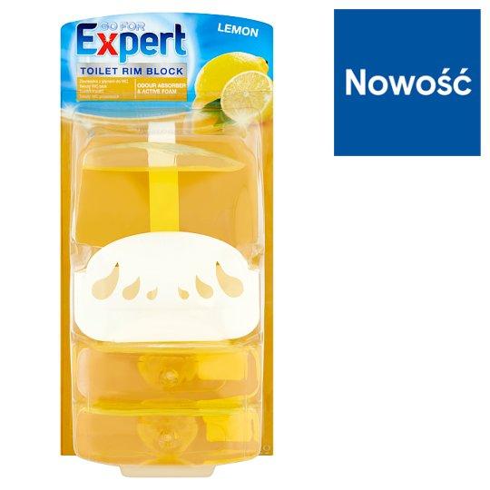 Go for Expert Lemon Zawieszka z płynem do WC 3 x 55 ml