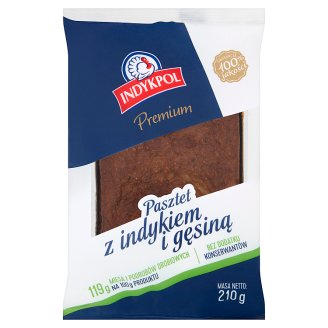 Indykpol Premium Pâté with Turkey and Goose Meat 210 g