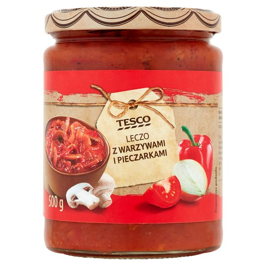 Tesco Letcho with Vegetables and Mushrooms 500 g