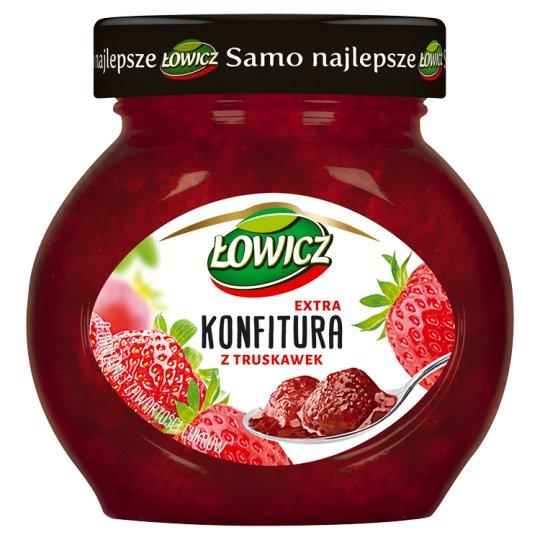 Łowicz Konfitura extra z truskawek niskosłodzona 240 g