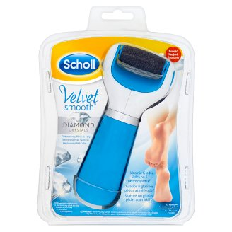Scholl Velvet Smooth Electronic File for Feet with Diamonds Crystals