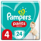 Pampers Pants Size 4, 24 Nappies, 9-15kg, Absorbing Channels