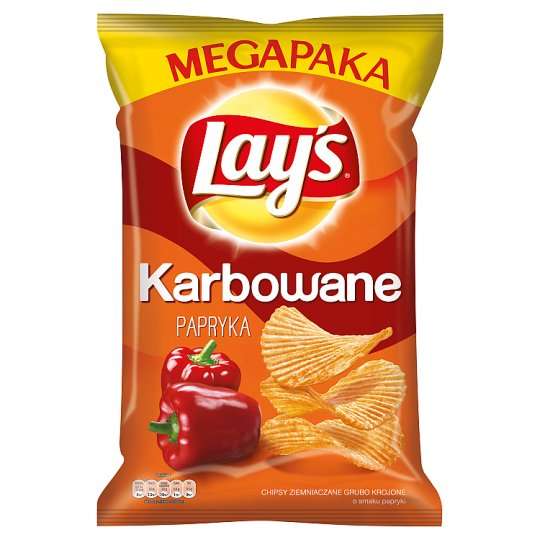 Lay's Karbowane Pepper Flavoured Potato Crisps 225 g