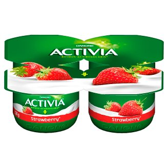 Danone Activia Strawberry Yoghurt 480 g (4 Pieces)