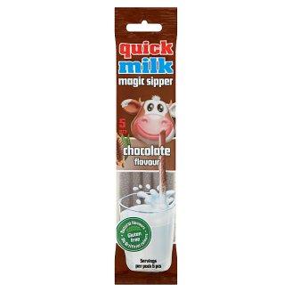 Quick Milk Magic Sipper Słomki smakowe do mleka o smaku czekoladowym 30 g (5 x 6 g)
