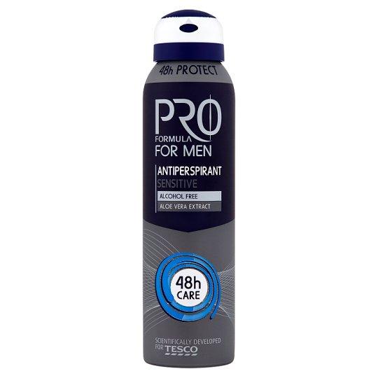Tesco Pro Formula For Men Sensitive Antyperspirant w sprayu 150 ml