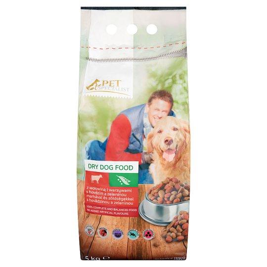 Tesco Pet Specialist Karma dla dorosłych psów granulki z wołowiną i warzywami 5 kg
