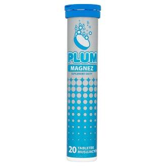 Plum magnez tabletki musuj ce o smaku cytrynowym 80 g 20 for Magnez w tabletkach