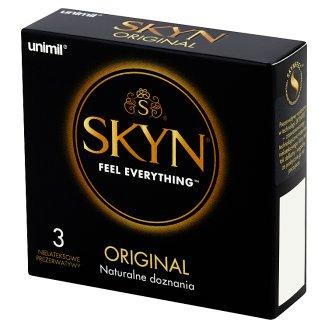 Unimil Skyn Original Nielateksowe prezerwatywy 3 sztuki