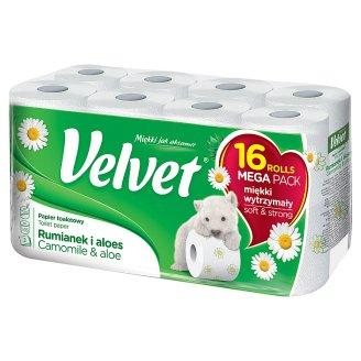 Velvet Camomile and Aloe Vera Toilet Paper 16 Rolls
