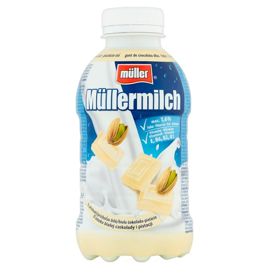 Müller Müllermilch White Chocolate-Pistachio Flavoured Milk Drink 377 ml