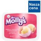 Ms Molly's Lody o smaku waniliowym czekoladowym i truskawkowym 2 l