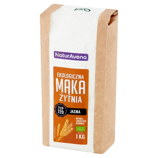 NaturAvena Ekologiczna mąka żytnia jasna typ 720 1 kg