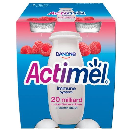 Danone Actimel Raspberry Fermented Milk 400 g (4 x 100 g)