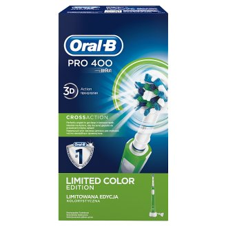 Oral-B PRO 400 CrossAction Electric Rechargeable Toothbrush Powered by Braun