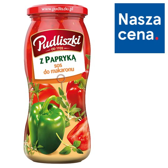 Pudliszki Pasta Sauce with Red and Green Peppers 500 g