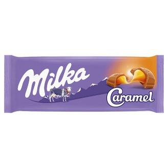 Milka Caramel Czekolada mleczna z nadzieniem karmelowym 100 g