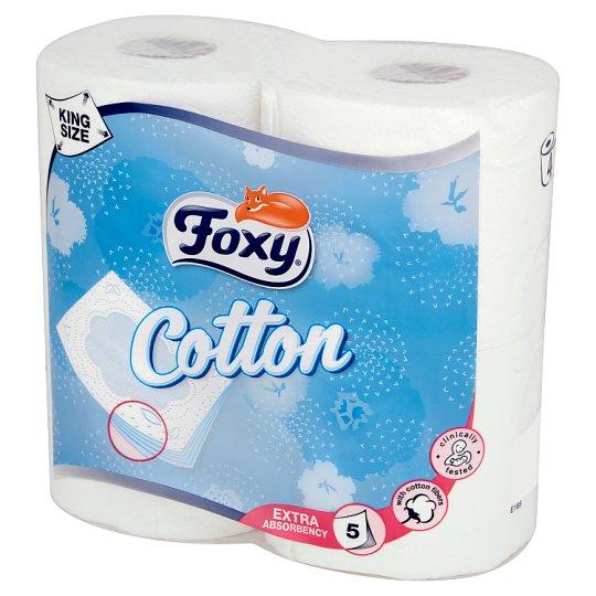 Foxy Cotton Toilet Paper 4 Rolls