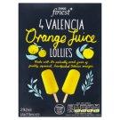 Tesco Finest Lizaki z mrożonego soku pomarańczowego 292 ml (4 sztuki)