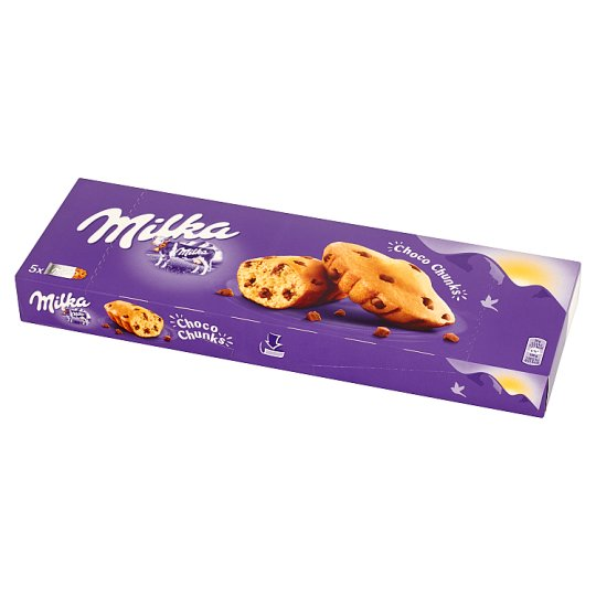 Milka Choco Chunks Biscuits with Chocolate Chips 140 g (5 Pieces)