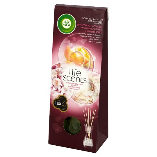 Air Wick Life Scents Pachnące patyczki o zapachu owocowych słodkości w kwitnącym parku 30 ml