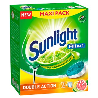 Sunlight All in 1 Citrus Fresh Dishwasher Tablets 1260 g (72 Pieces)