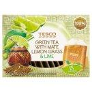 Tesco Mate Lemon Grass & Lime Herbata zielona 22,5 g (15 torebek)