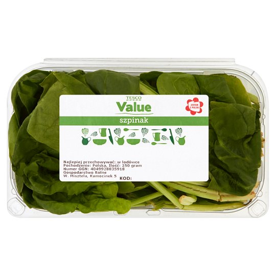 Tesco Value Szpinak 250 g