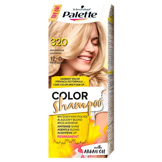 Palette Color Shampoo Coloring Shampoo Lightener 320