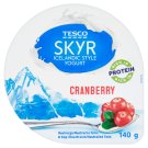 Tesco Skyr Icelandic Style Yogurt Cranberry 140 g