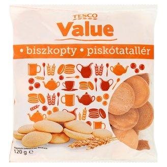 Tesco Value Vanilla Flavour Sponge Biscuits 120 g