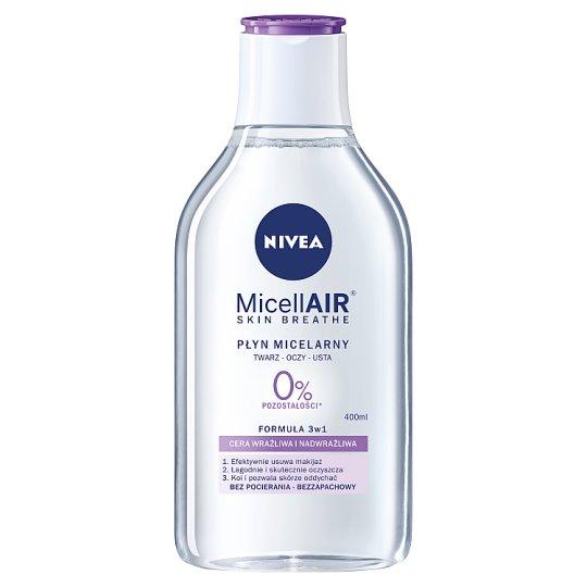 NIVEA MicellAir Skin Breathe Pielęgnujący płyn micelarny do cery wrażliwej i nadwrażliwej 400 ml