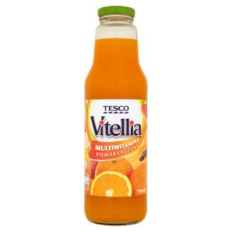Tesco Vitellia Orange Multivitamin Multifruit Drink 750 ml