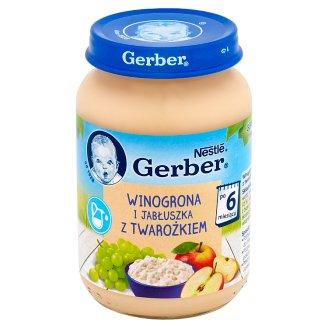 Gerber Winogrona i jabłuszka z twarożkiem po 6 miesiącu 190 g