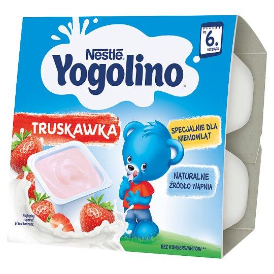 Nestlé Jogolino truskawka Deserek po 6 miesiącu 400 g (4 sztuki)