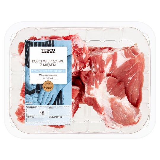 Tesco Kości wieprzowe z mięsem