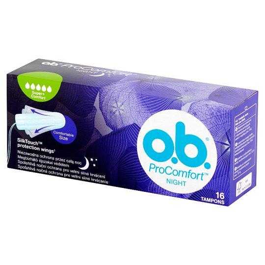 O.B. ProComfort Night Super+ Comfort Tampony 16 sztuk