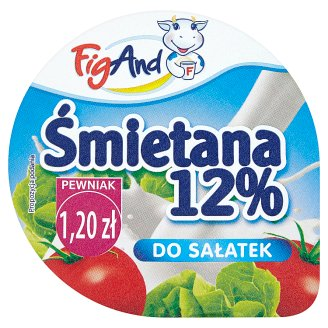 FigAND Śmietana 12% do sałatek 200 g