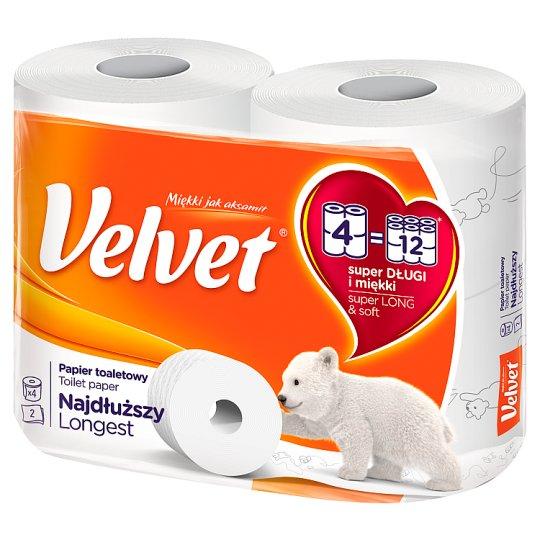 Velvet Najdłuższy Paper Toilet 4 Rolls