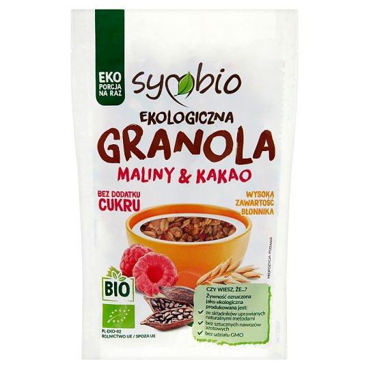 Znalezione obrazy dla zapytania Symbio Granola maliny & kakao ekologiczna