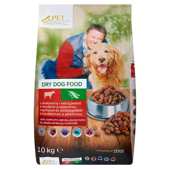 Tesco Pet Specialist Rings with Beef and Vegetables Dry Food for Adult Dogs 10 kg