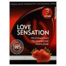 Love Sensation Prezerwatywy truskawkowe nawilżane 3 sztuki