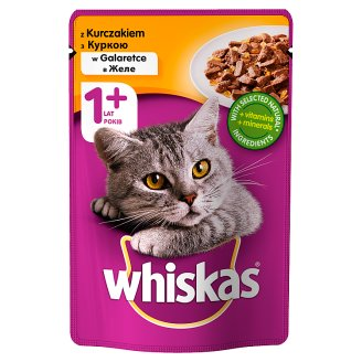 Whiskas Complete Food for Adult Cats with Chicken in Jelly 100 g