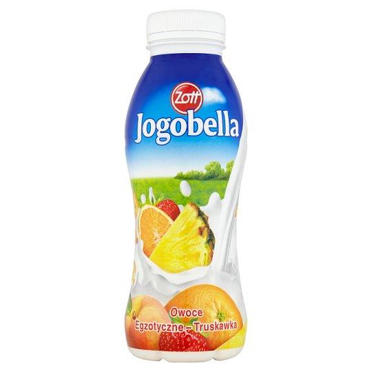 Zott Jogobella Jogurt do picia owoce egzotyczne-truskawka 300 g