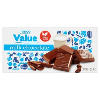 Tesco Value Milk Chocolate 100 g