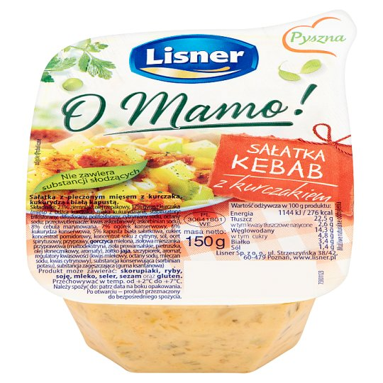 Lisner O Mamo! Kebab Salad with Chicken 150 g