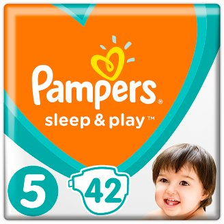 Pampers Sleep & Play Size 5, 42 Nappies, 11-16Kg, Trusted Dryness